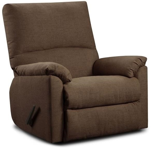 Recliner Pillow 7560 Casual Recliner With Pillow Arms By Washington Furniture At Great American Home Store
